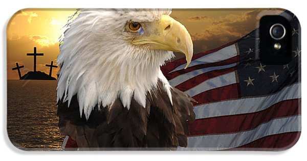 God Bless Our Troops IPhone 5 Case by Keith Lovejoy