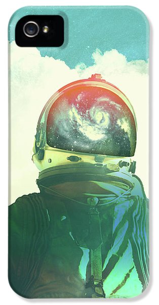 Surrealism iPhone 5 Case - God Is An Astronaut by Fran Rodriguez