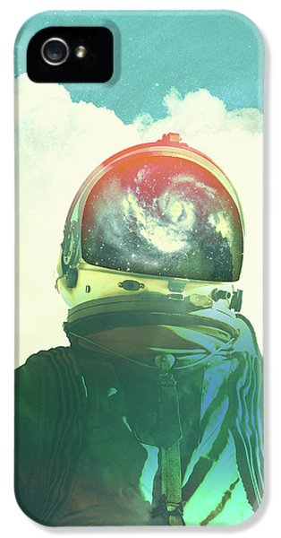 God Is An Astronaut IPhone 5 Case by Fran Rodriguez