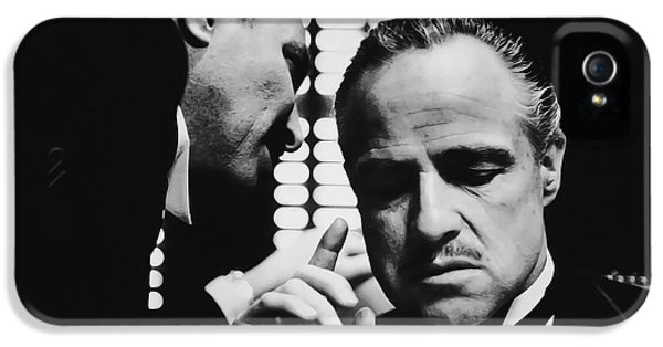 Godfather Brando IPhone 5 Case by Daniel Hagerman