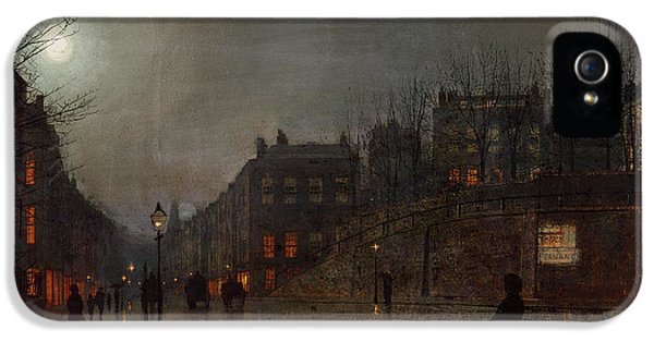 Going Home At Dusk IPhone 5 Case by John Atkinson Grimshaw