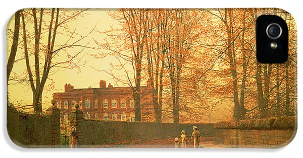 Going To Church IPhone 5 Case by John Atkinson Grimshaw