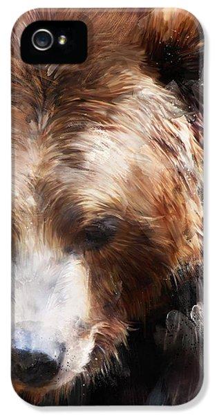 Bear iPhone 5 Case - Bear // Gold by Amy Hamilton