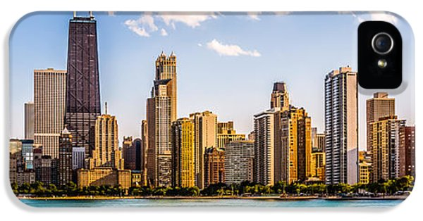 Gold Coast Chicago Skyline Panorama IPhone 5 Case by Paul Velgos