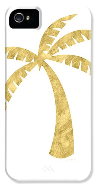 Gold Palm Tree- Art By Linda Woods IPhone 5 Case