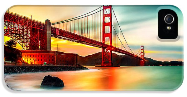 Golden Gateway IPhone 5 Case by Az Jackson