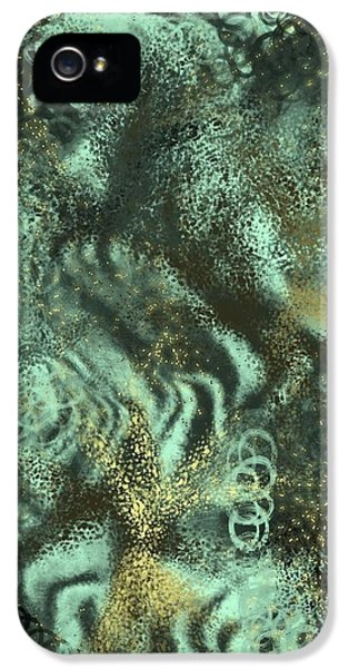 iPhone 5 Case - Golden Green by Orphelia Aristal