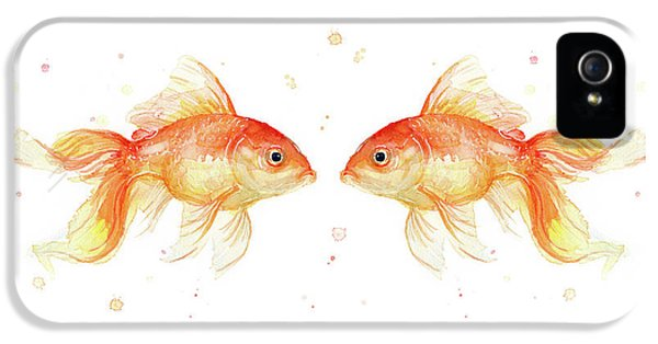 Goldfish Love Watercolor IPhone 5 Case