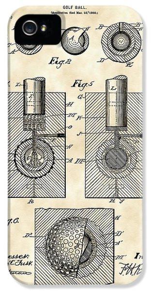Golf Ball Patent 1902 - Vintage IPhone 5 Case