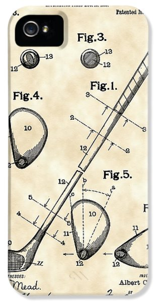 Golf iPhone 5 Case - Golf Club Patent 1909 - Vintage by Stephen Younts