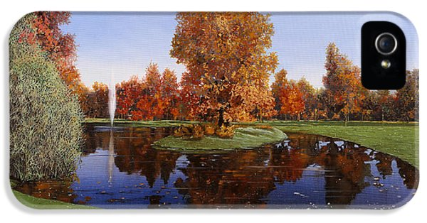 Golf  Cherasco IPhone 5 Case by Guido Borelli