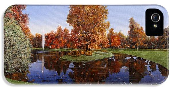Golf  Cherasco IPhone 5 Case by Guido Borelli