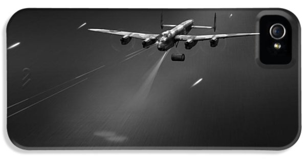 IPhone 5 Case featuring the photograph Goner From Dambuster J-johnny Bw Version by Gary Eason