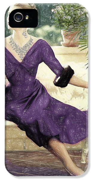 Grace Kelly Draw IPhone 5 / 5s Case by Quim Abella