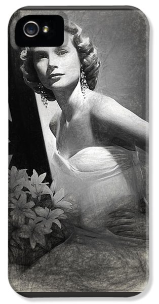 Grace Kelly Drawing IPhone 5 / 5s Case by Quim Abella