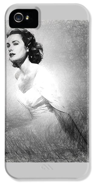 Grace Kelly Sketch IPhone 5 / 5s Case by Quim Abella