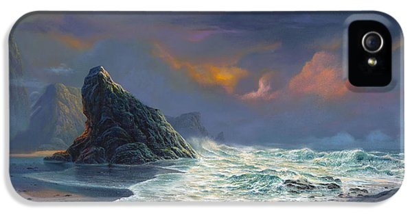 Beach Sunset iPhone 5 Case - Grace Under Fire by Michael Humphries