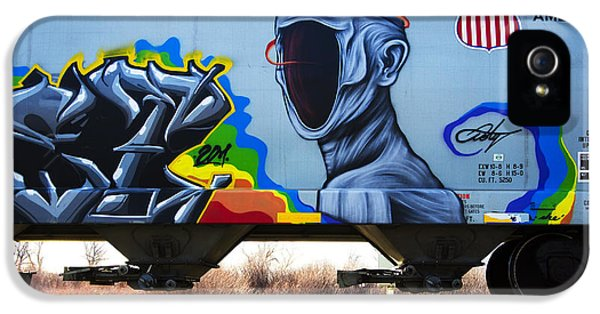 Grafitti Art Riding The Rails 2 IPhone 5 Case by Bob Christopher