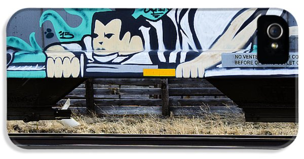 Grafitti Art Riding The Rails IPhone 5 Case by Bob Christopher