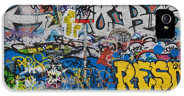 Grafitti On The U2 Wall, Windmill Lane IPhone 5 Case by Panoramic Images