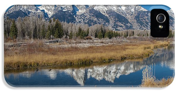 IPhone 5 Case featuring the photograph Grand Tetons by Gary Lengyel