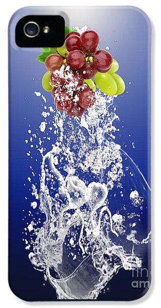 Grape Splash IPhone 5 Case by Marvin Blaine