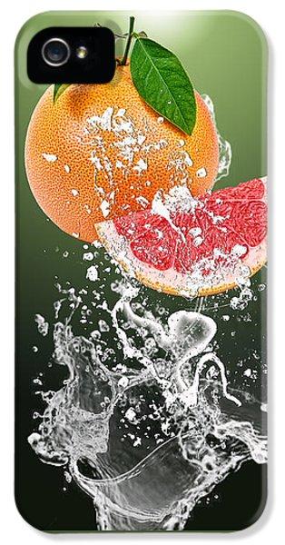 Grapefruit Splash IPhone 5 Case by Marvin Blaine
