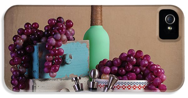 Grapes With Wine Stoppers IPhone 5 Case by Tom Mc Nemar