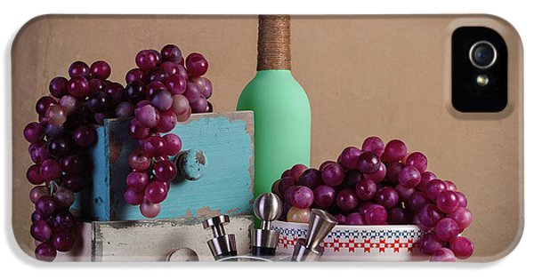 Grapes With Wine Stoppers IPhone 5 / 5s Case by Tom Mc Nemar