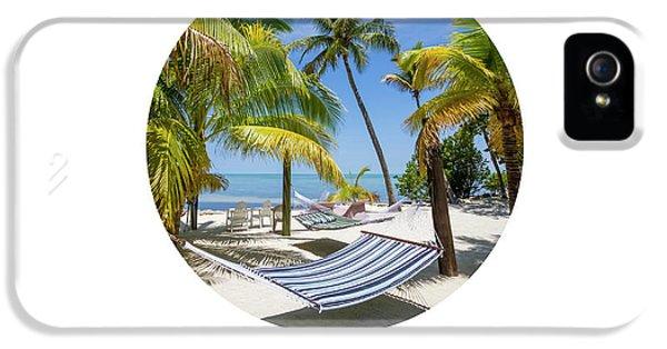 Breathe iPhone 5 Case - Graphic Art Relax Key West IIi by Melanie Viola