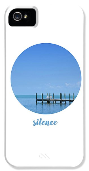Breathe iPhone 5 Case - Graphic Art Silence - Oceanview by Melanie Viola