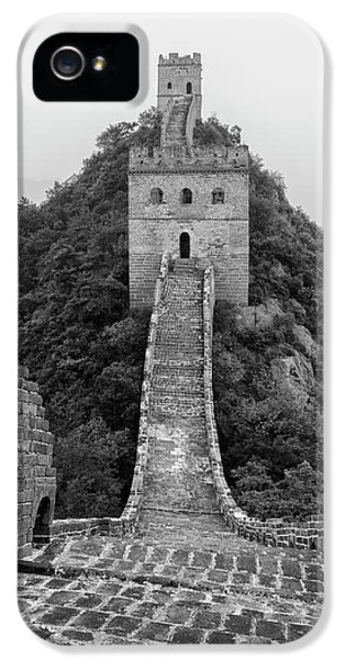 IPhone 5 Case featuring the photograph Great Wall 1, Jinshanling, 2016 by Hitendra SINKAR