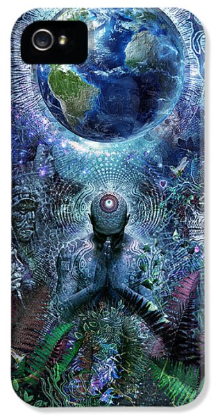 Hummingbird iPhone 5 Case - Gratitude For The Earth And Sky by Cameron Gray