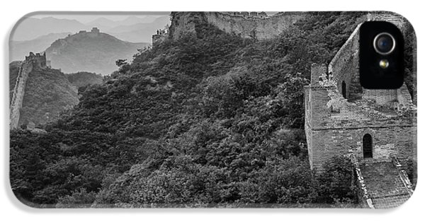 IPhone 5 Case featuring the photograph Great Wall 3, Jinshanling, 2016 by Hitendra SINKAR
