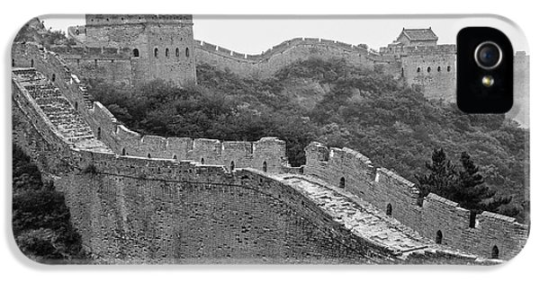 IPhone 5 Case featuring the photograph Great Wall 8, Jinshanling, 2016 by Hitendra SINKAR