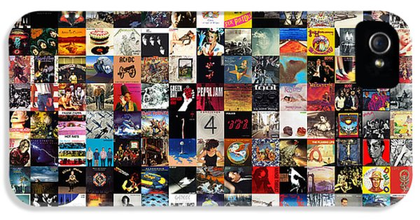 Greatest Album Covers Of All Time IPhone 5 Case by Taylan Apukovska