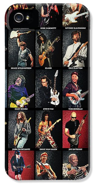 Eric Clapton iPhone 5 Case - Greatest Guitarists Of All Time by Taylan Apukovska