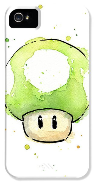 Green 1up Mushroom IPhone 5 Case