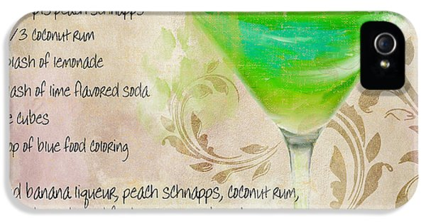 Green Angel Mixed Cocktail Recipe Sign IPhone 5 Case