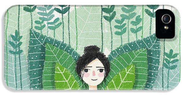 Green IPhone 5 Case by Carolina Parada