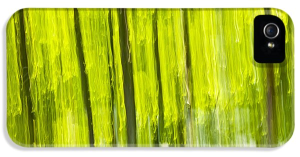 Green Forest Abstract IPhone 5 / 5s Case by Elena Elisseeva