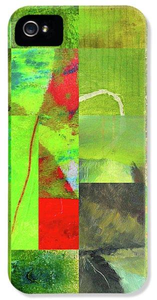 IPhone 5 Case featuring the digital art Green Grid by Nancy Merkle