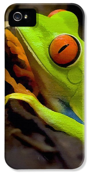 Green Tree Frog IPhone 5 Case by Sharon Foster