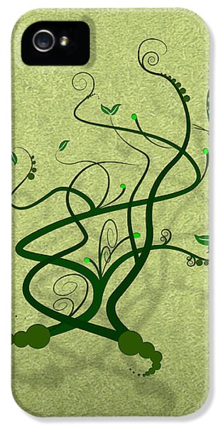 Green Vine And Butterfly IPhone 5 Case