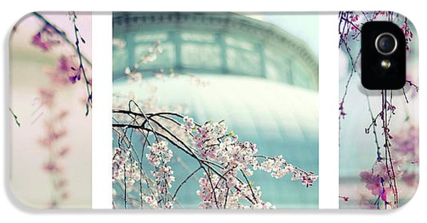 IPhone 5 Case featuring the photograph Greenhouse Blossoms Triptych by Jessica Jenney