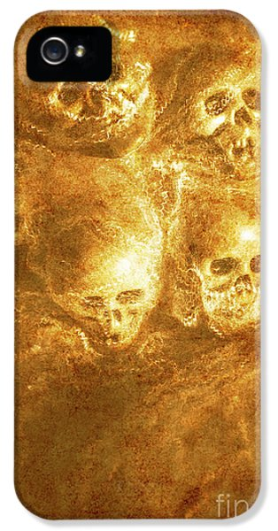 Grim Tales Of Burning Skulls IPhone 5 Case by Jorgo Photography - Wall Art Gallery