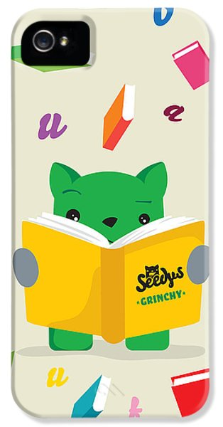 Grinchy And Books IPhone 5 Case by Seedys