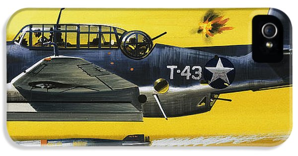 Grummen Tbf1 Avenger Bomber IPhone 5 Case by Wilf Hardy
