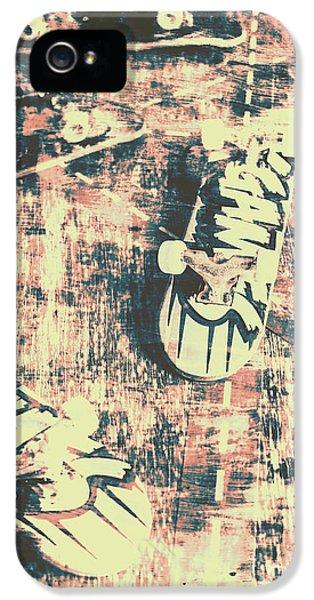 Truck iPhone 5 Case - Grunge Skateboard Poster Art by Jorgo Photography - Wall Art Gallery