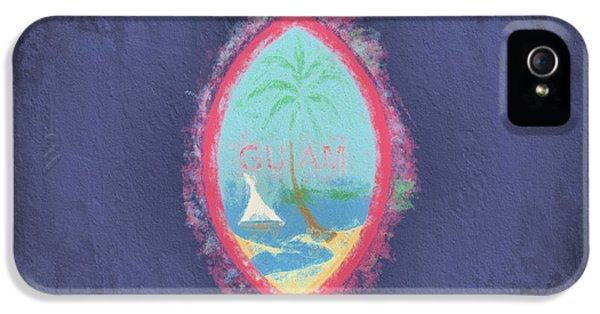 IPhone 5 Case featuring the digital art Guam Flag by JC Findley